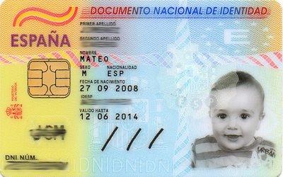 El DNI y el pasaporte para los bebés