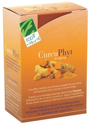 100% Natural Curcuphyt 60 cápsulas