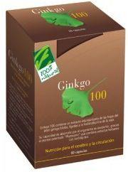 100% Natural Ginkgo 100 60 cápsulas