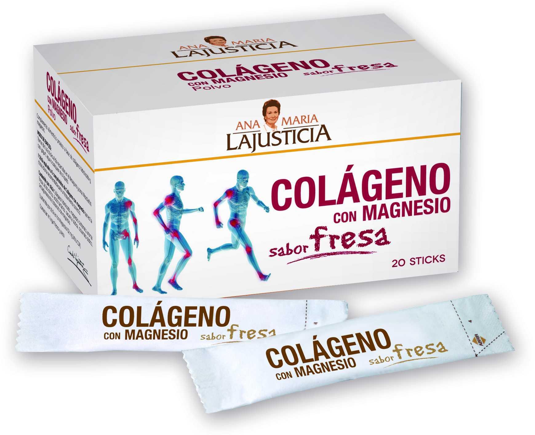 Ana Maria Lajusticia Colágeno con Magnesio Fresa 20 sticks
