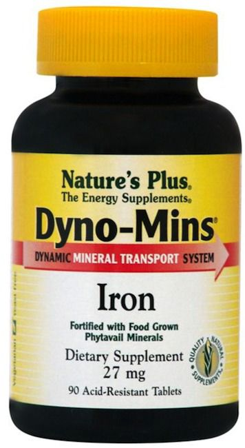 Nature's Plus Dyno-Mins Hierro 14mg 90 comprimidos