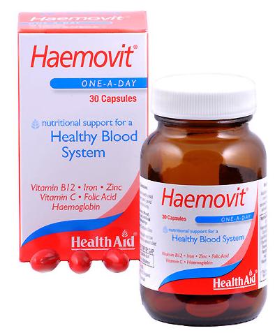 Health Aid Haemovit 30 capsulas
