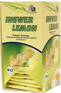 Infusión Jengibre-Limón-Té Verde Bio 20 filtros