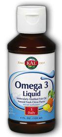 KAL Omega 3 líquido sabor limón 120ml