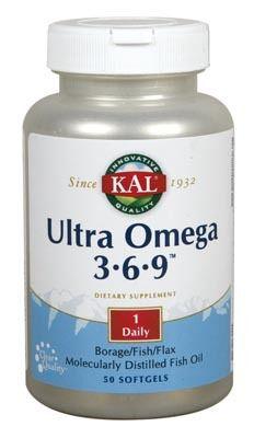 KAL Ultra Omega 3-6-9 50 cápsulas