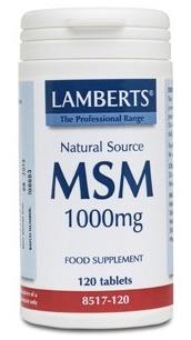 Lamberts MSM 1000mg 120 comprimidos