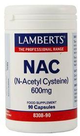 Lamberts NAC N-Acetil Cisteina 600mg 90 cápsulas