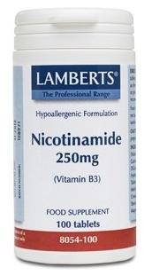 Lamberts Nicotinamida 100 comprimidos