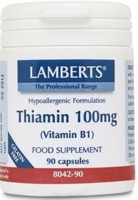 Lamberts Tiamina 100mg 90 cápsulas