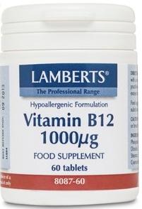 Lamberts Vitamina B12 1000µg 60 comprimidos