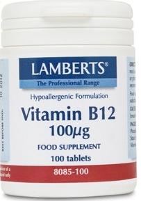 Lamberts Vitamina B12 100µg 100 comprimidos