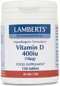 Lamberts Vitamina D 400UI 120 comprimidos