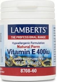 Lamberts Vitamina E natural 400UI 60 cápsulas