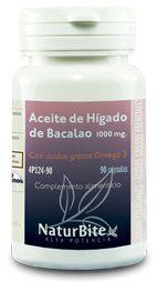 Naturbite Aceite de Hígado de Bacalao 1000mg 90 cápsulas