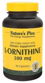 Nature's Plus L-Ornitina 500mg 90 cápsulas