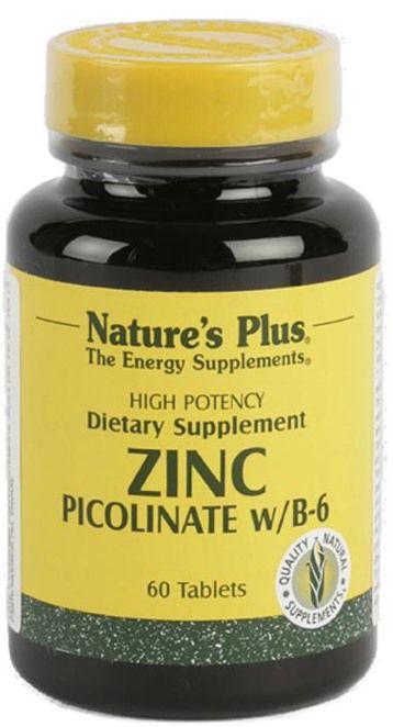 Nature's Plus Zinc Picolinato 60 comprimidos