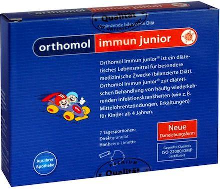 Orthomol Immun Junior 7 sobres granulados