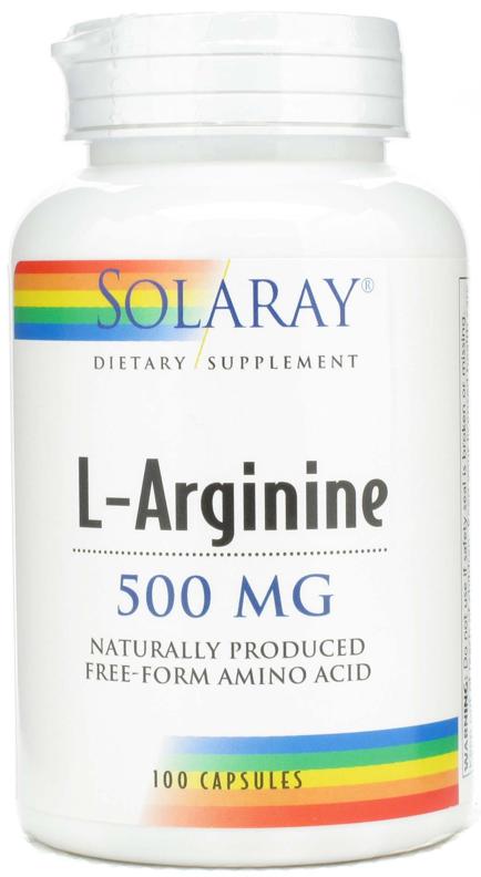Solaray L-Arginina 500mg 100 cápsulas