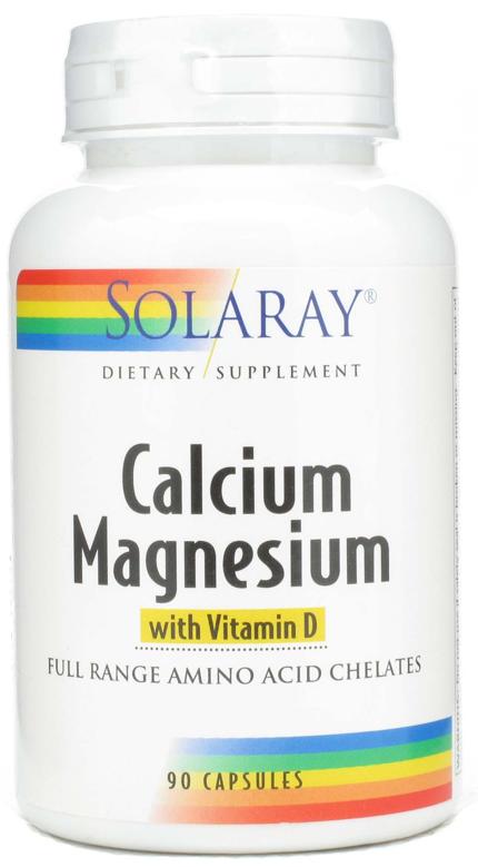Solaray Calcio - Magnesio 90 cápsulas