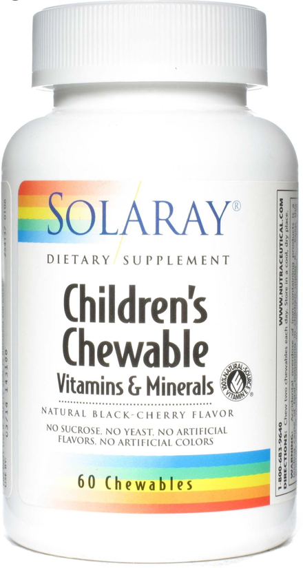 Solaray Children's Chewable 60 masticables