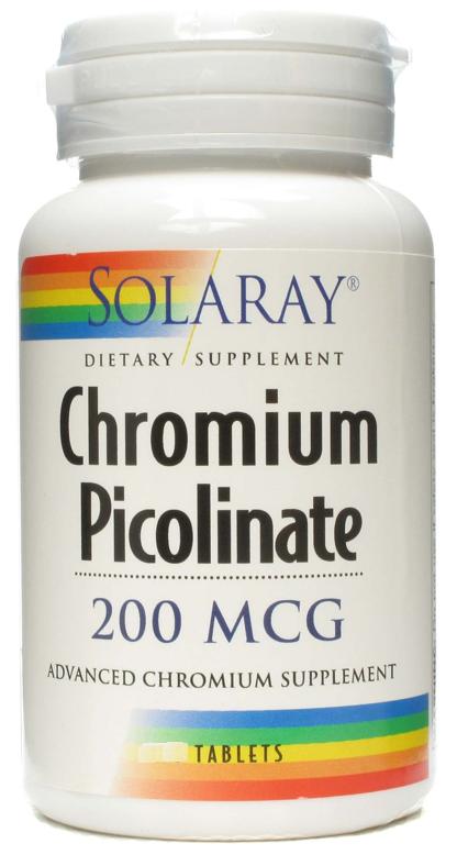 Solaray Cromo Picolinato 200µg 50 Tablites