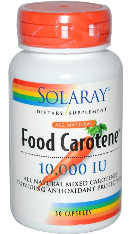 Solaray Food Carotene 50 cápsulas