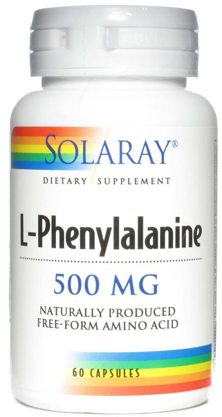 Solaray L-Fenilalanina 500mg 60 cápsulas