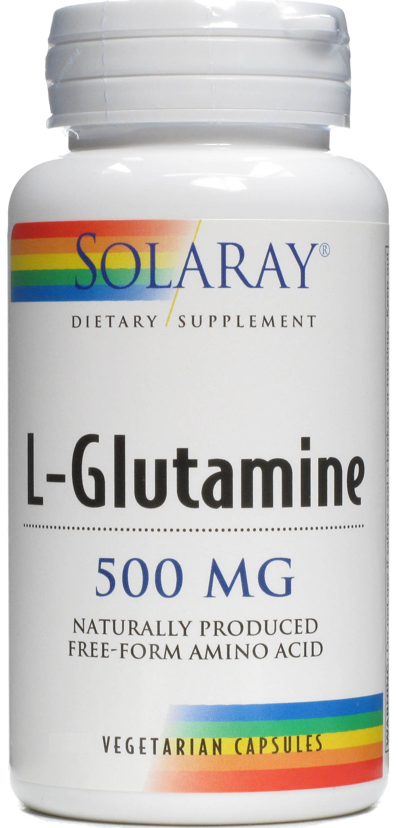 Solaray L-Glutamina 500mg 50 cápsulas
