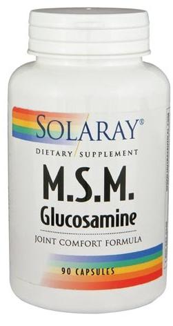 Solaray MSM con Glucosamina 90 cápsulas