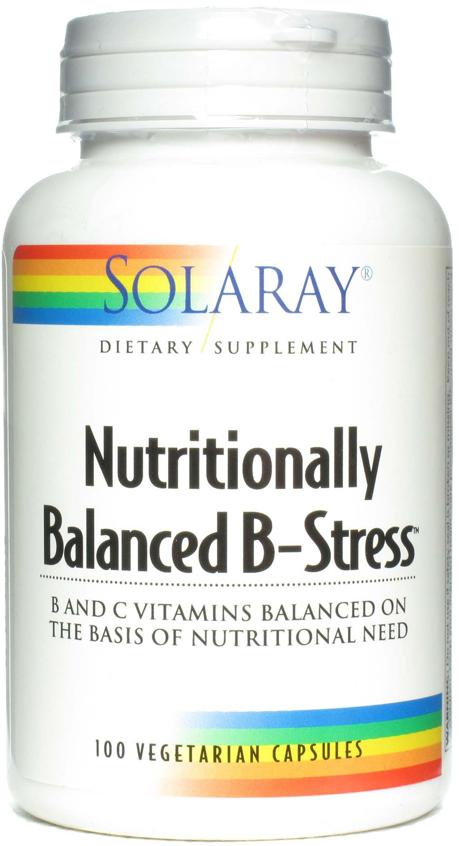 Solaray Nutritionally Balanced B Stress 100 cápsulas