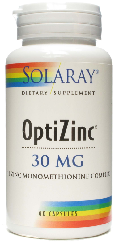 Solaray Optizinc 30mg 60 cápsulas