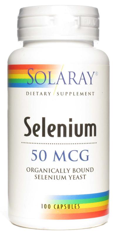 Solaray Selenio 50 microgramos 100 cápsulas