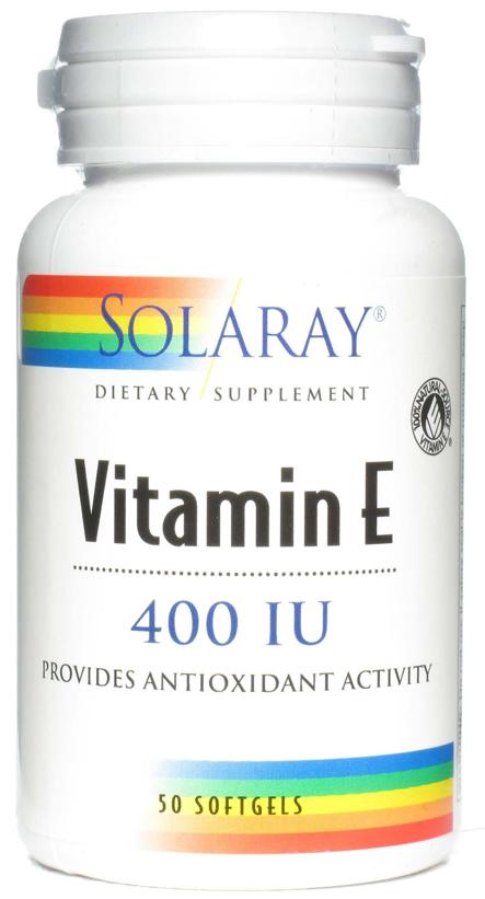 Solaray Vitamina E 400 UI 50 cápsulas