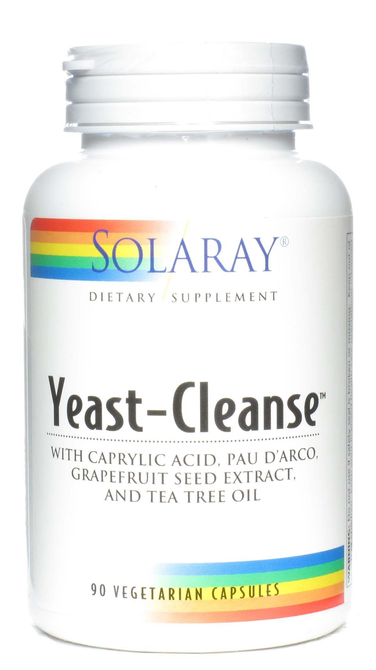 Solaray Yeast Cleanse 90 cápsulas
