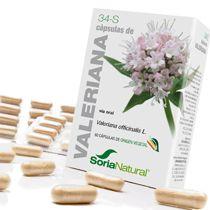 Soria Natural 34-S Valeriana 60 cápsulas