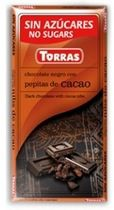 Torras Chocolate Negro 70% Cacao Sin Azúcar 75g
