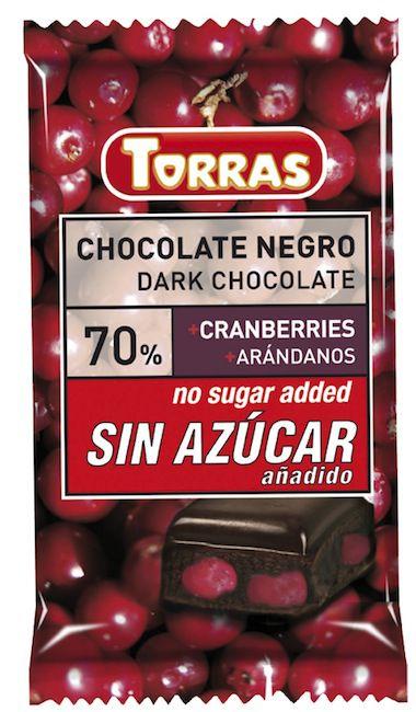 Torras Chocolate Negro con Arándanos Sin Azúcar 150g