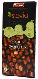 Torras Chocolate Negro con Avellanas y Stevia 125g